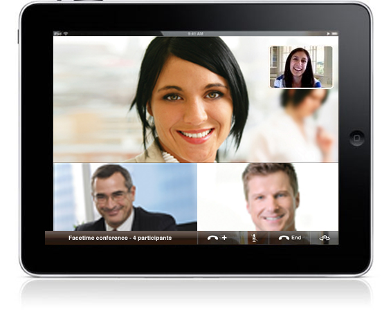 iPad videoconference mock-up