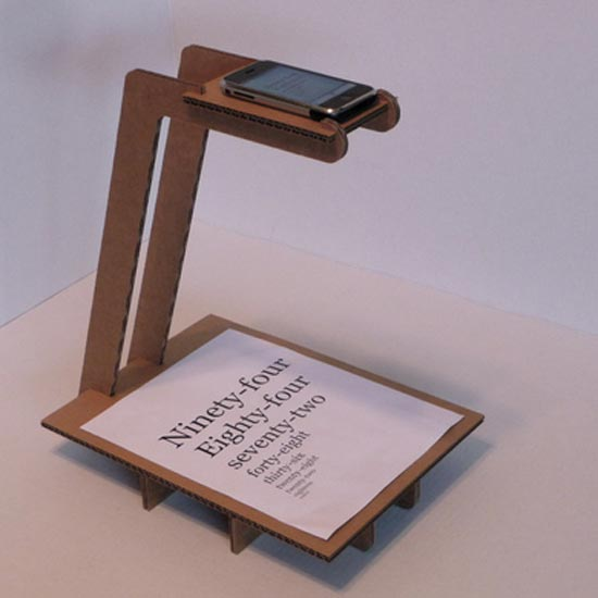 iPhone Cardboard Scanner